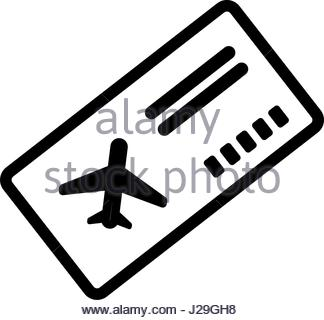 324x320 Drawing Airline Boarding Pass Ticket Travel Stock Vector Art