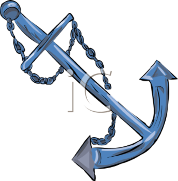 591x600 Anchor For A Boat Clipart Image Free Images