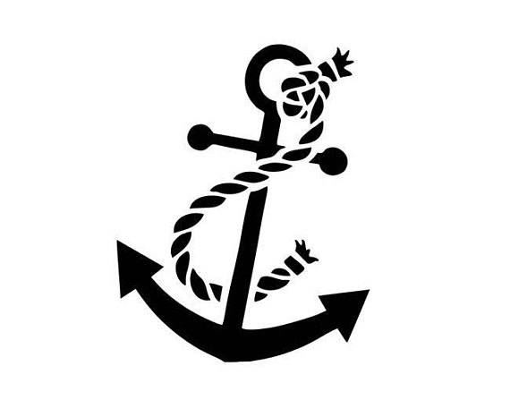 570x447 Anchor Svg Boat Anchor Svg File Svg Dxf Cricut Silhouette