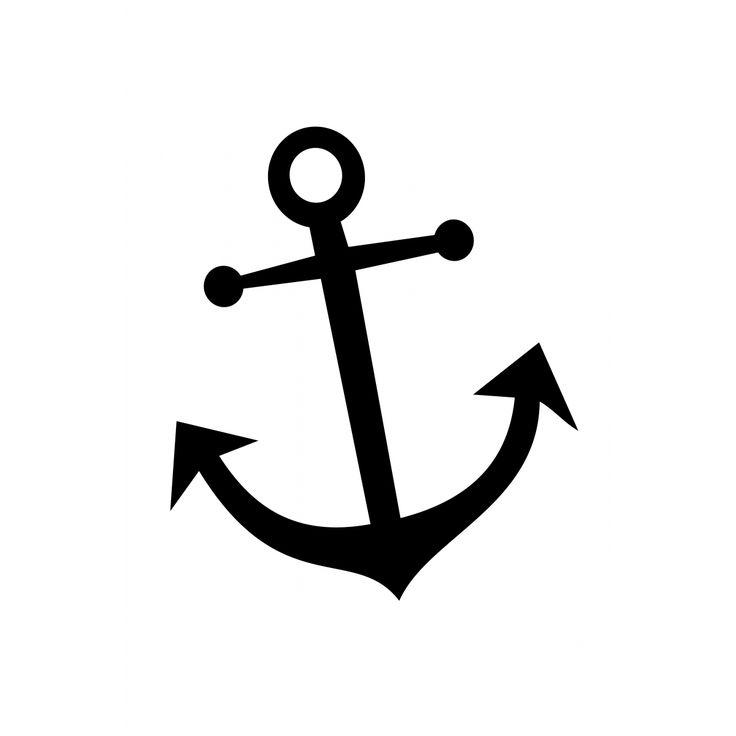 736x736 Best Anchor Stencil Ideas Anchor Silhouette