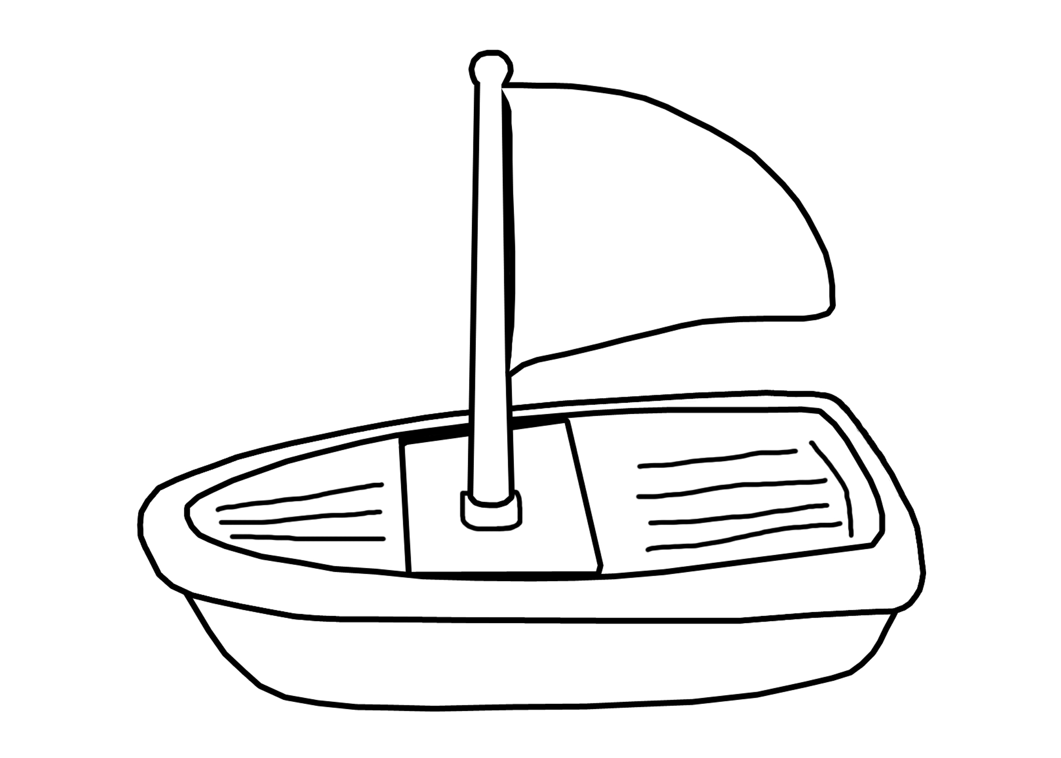 2100x1500 Toy Boat Clipart