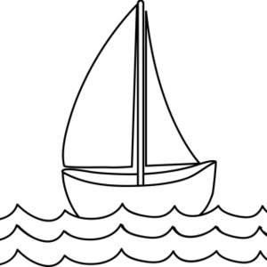 300x300 Free Black And White Boat Clipart