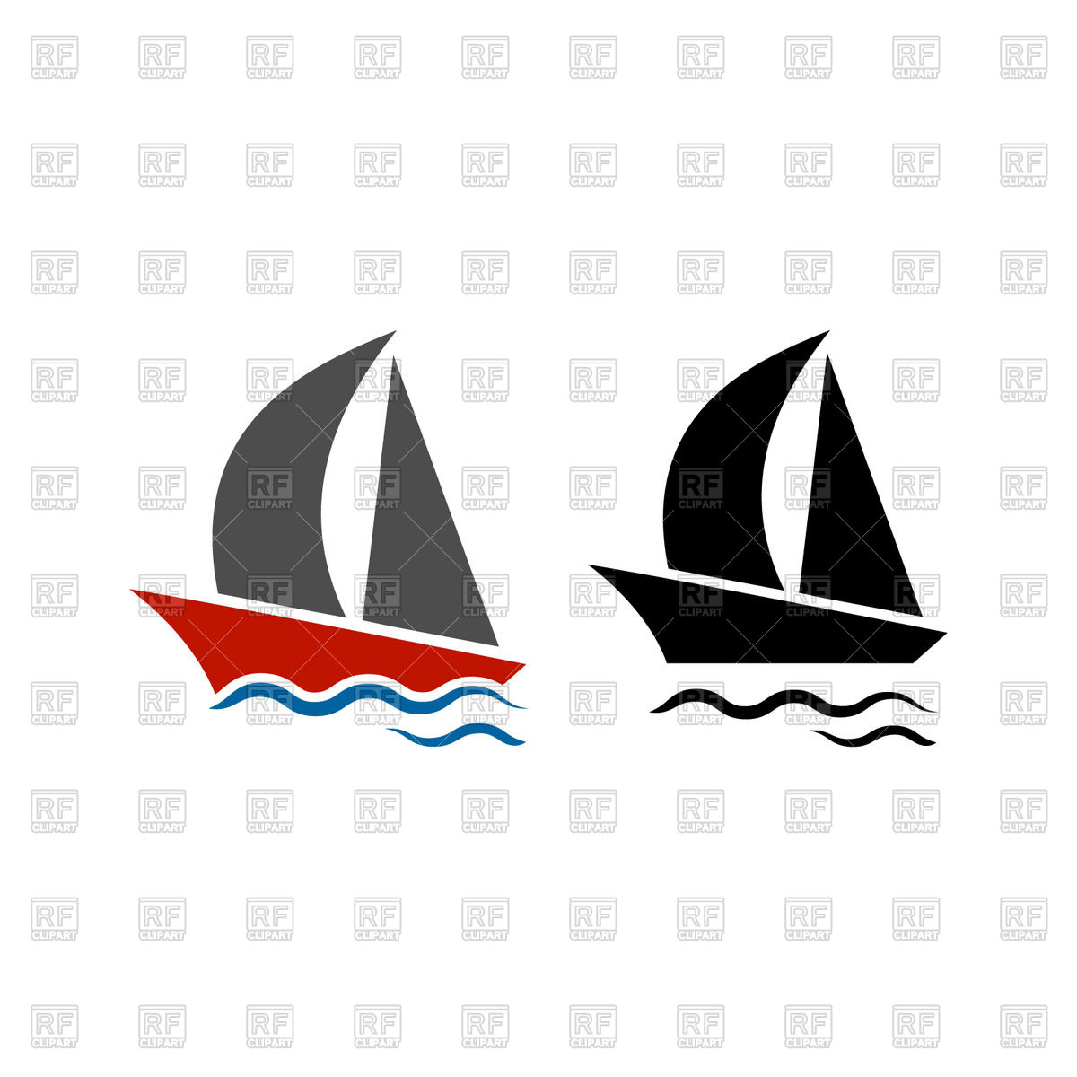 1200x1200 Sailing Boat Icon Free Vector Clip Art Image