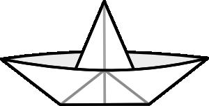 300x153 Paper Boat Clip Art