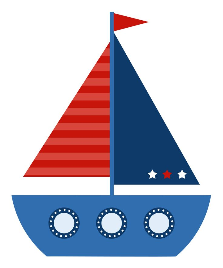 736x883 Boat Clipart Red And Blue