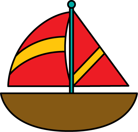 445x425 Yacht Clipart Red Boat
