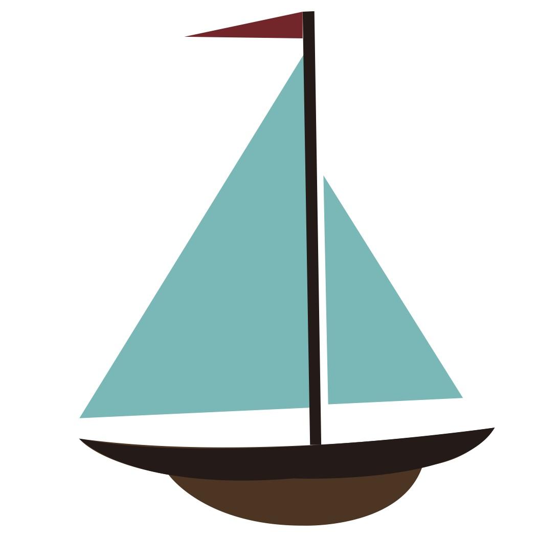 1050x1050 Cartoon Sail Boat Clipart