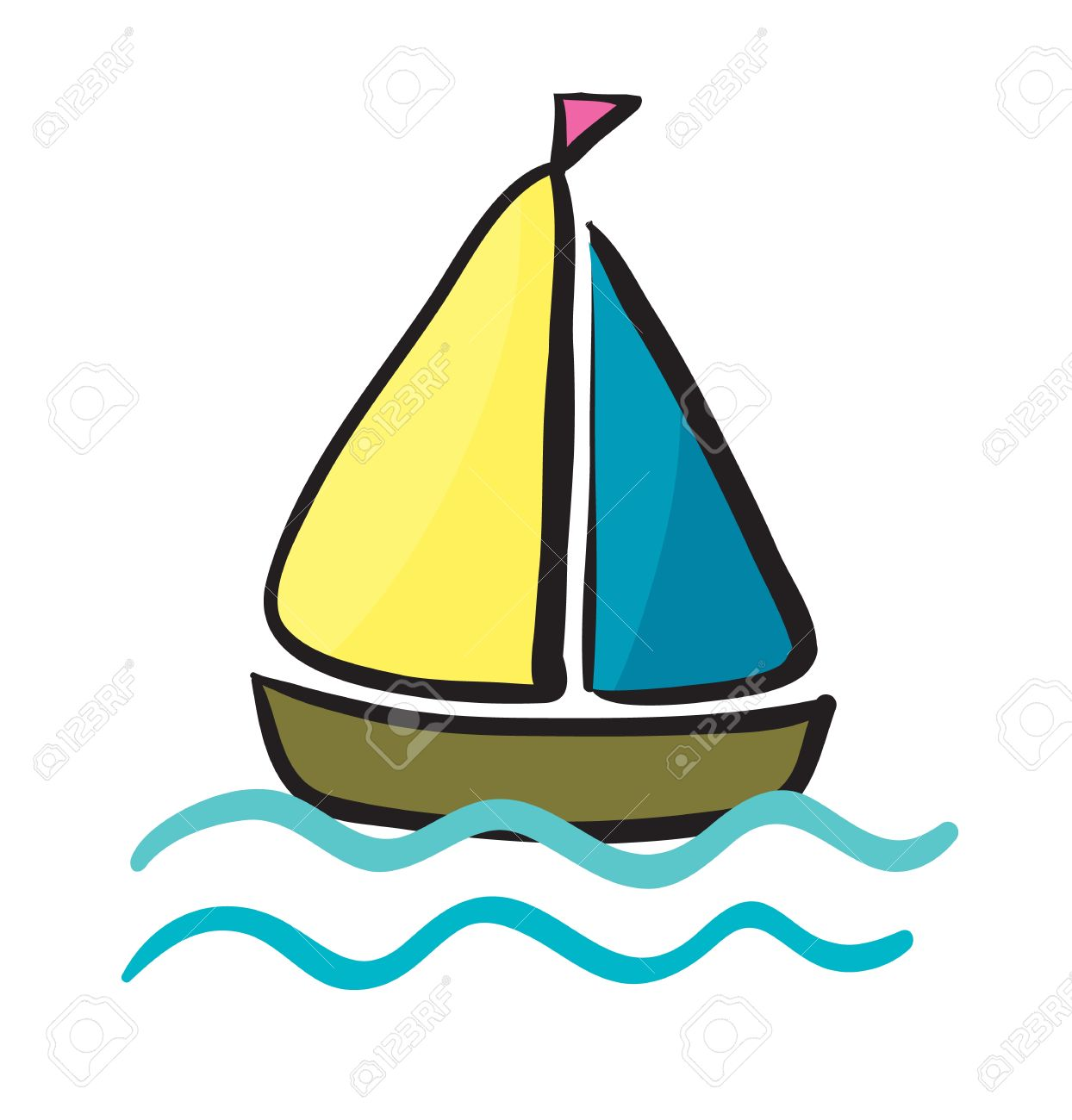 1244x1300 Illustration Of A Ship On A White Background Royalty Free Cliparts