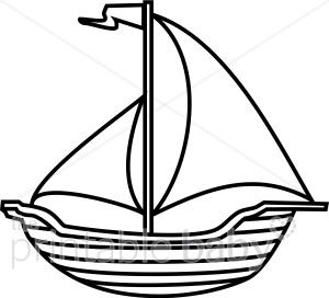 300x272 Black And White Boat Clipart Beach Baby Clipart