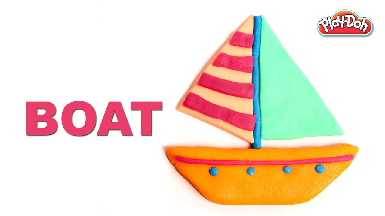 1280x720 Play Doh Boat Learn Vehicles With Play Doh For Kids Children