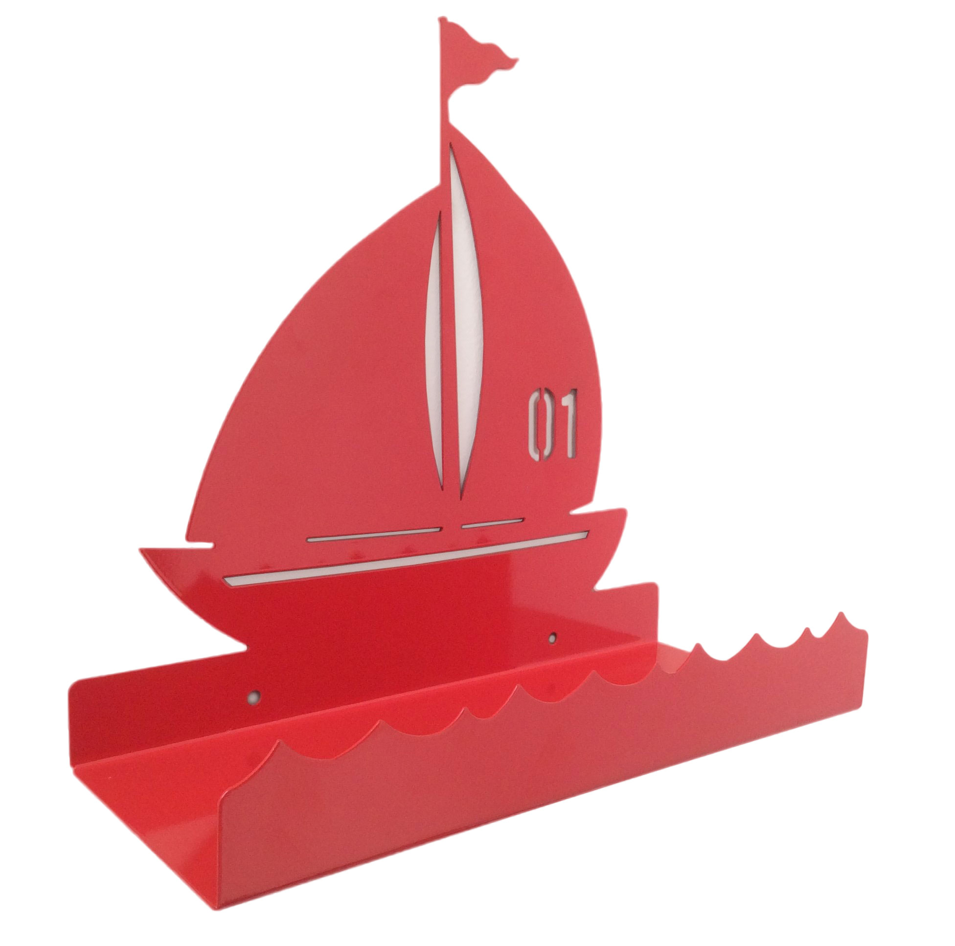 1952x1932 Sailing Boat Metal Wall Shelf