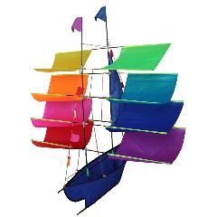 240x240 Tresbro 3d Boat Kite Flying Single Line Kite Ripstop Nylon