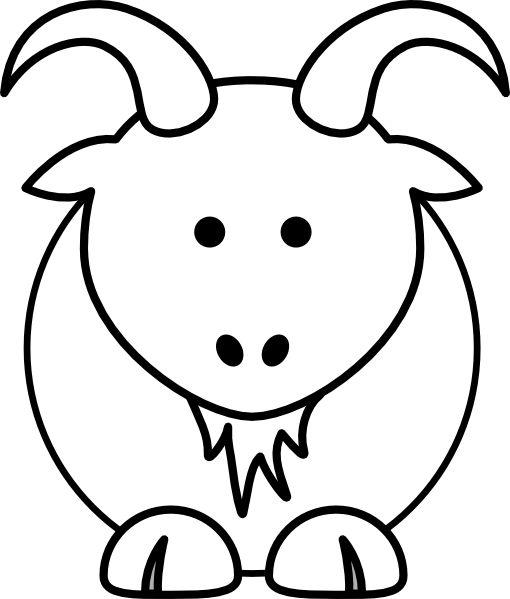 510x599 Boer Goat Clip Art 2