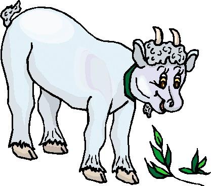 417x368 Boer Goat Clip Art 4