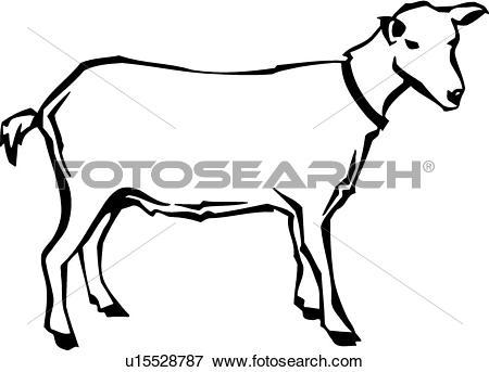450x343 Free Clipart Goat