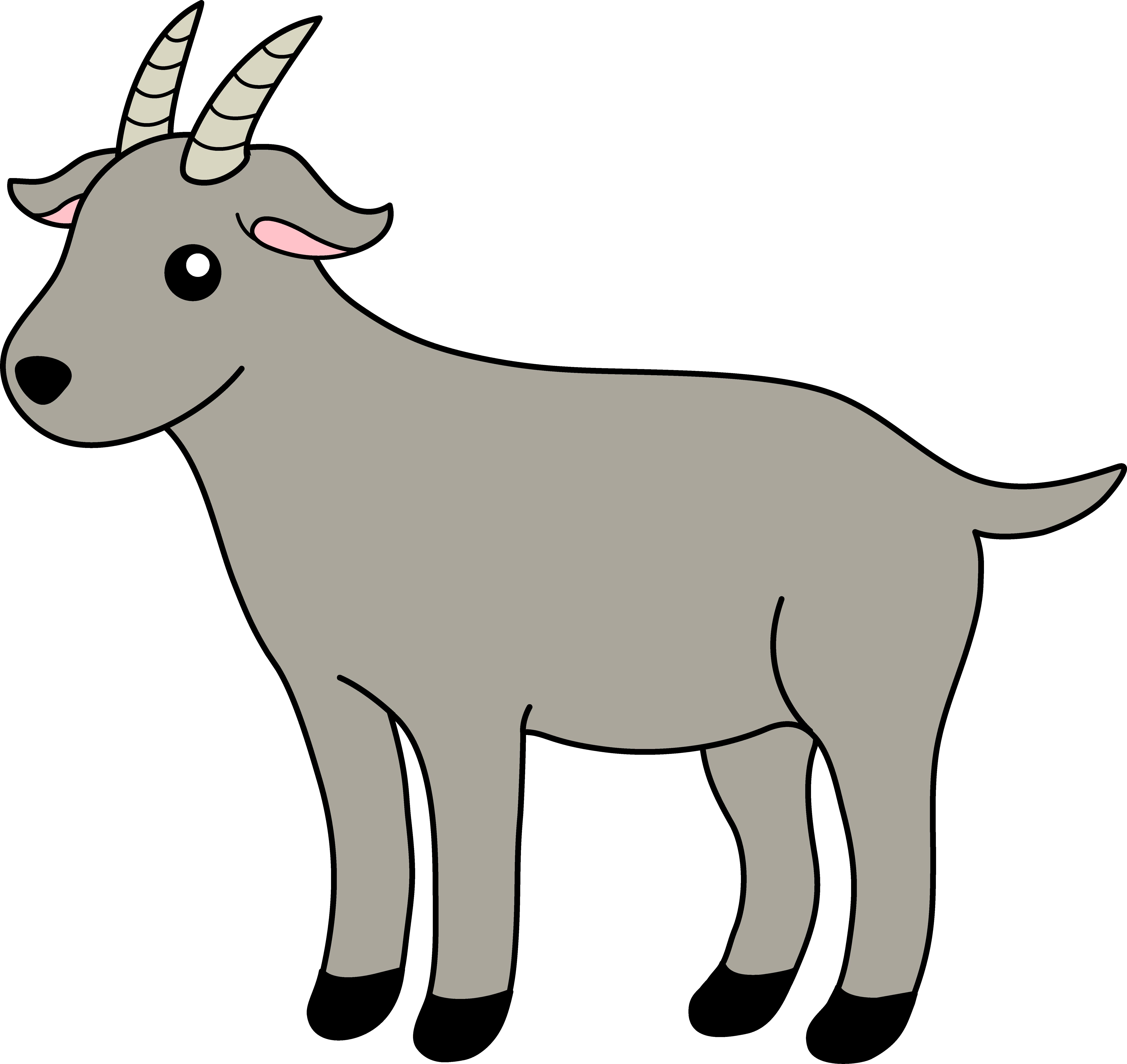 6445x6083 Goat Border Clipart