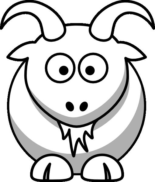 510x599 Goat Outline Clip Art