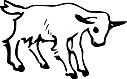 425x265 Goat Outline Clip Art Vector, Free Vector Graphics
