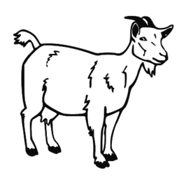 256x267 Goat Clipart