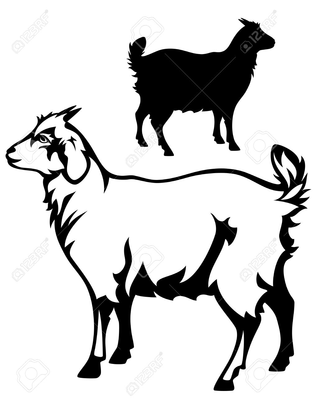 1040x1300 Goat Clipart She