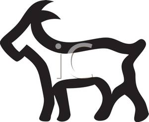 300x245 Goat Outline