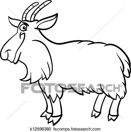 450x451 Goat Outline