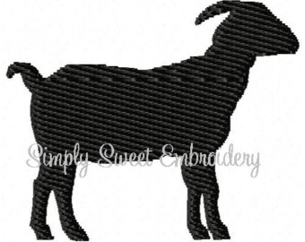 340x270 Goat Embroidery Etsy