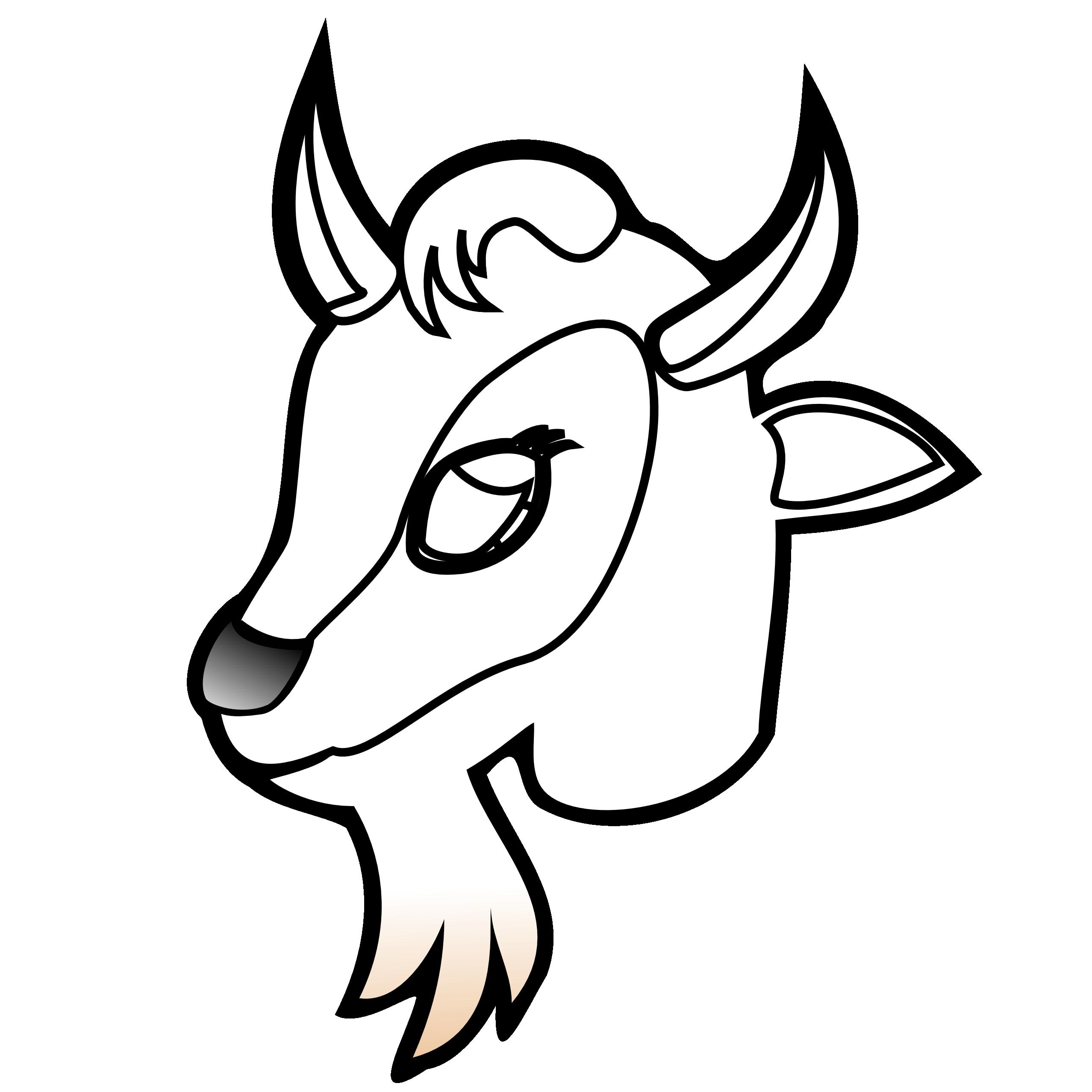 2555x2555 Goats Head Clipart