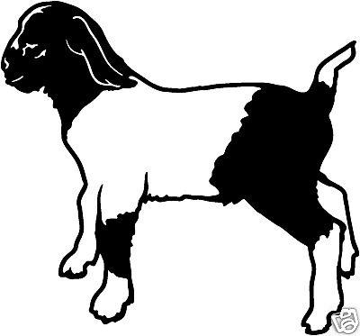 400x373 Goats Head Clipart Stencil