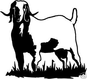 Boer Goat Silhouette