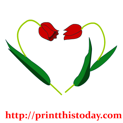 417x417 Graphics For Flower Heart Clip Art Graphics