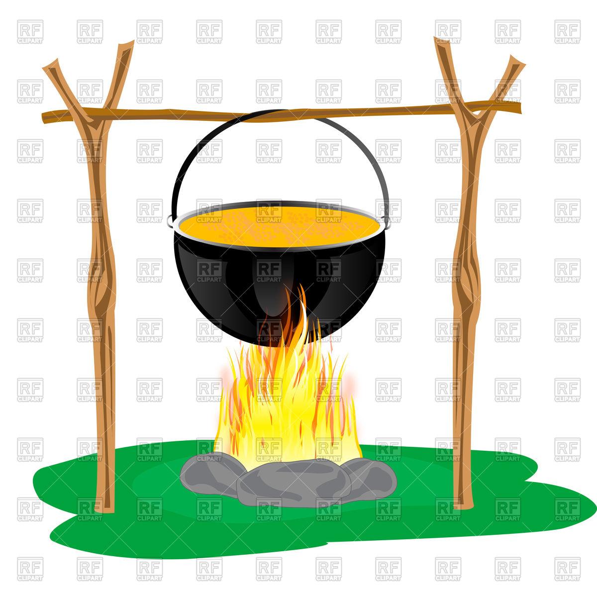 1200x1200 Boiling Cauldron On Bonfire