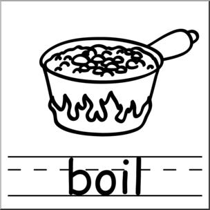 304x304 Clip Art Basic Words Boil Bampw Labeled I Abcteach
