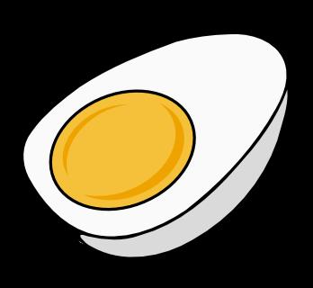 348x320 Free Half Boiled Egg Clip Art