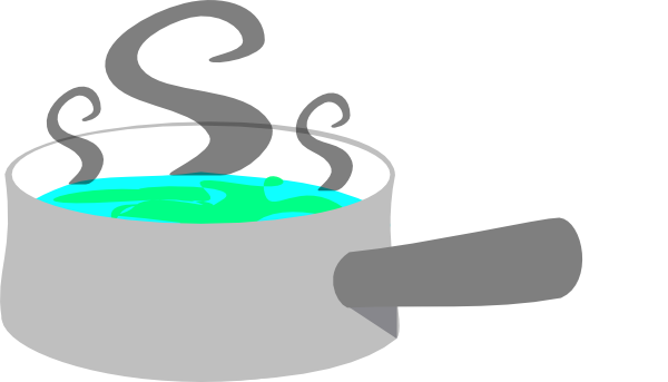 600x343 Grey Pot With Steam Clip Art