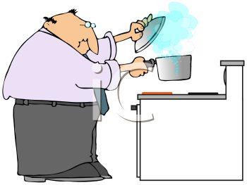 350x263 Man Boiling Water