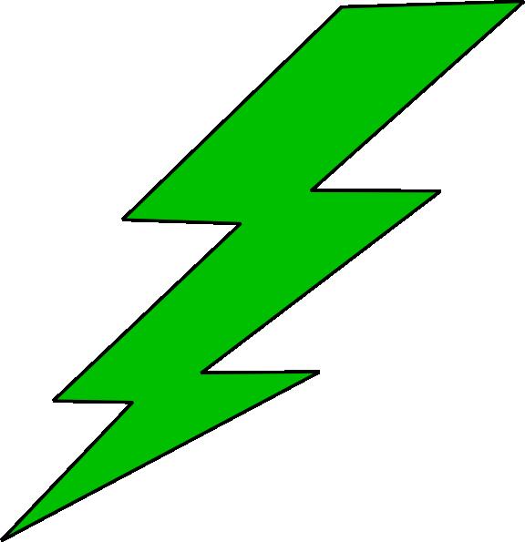 576x595 Green Lighting Bolt Clip Art