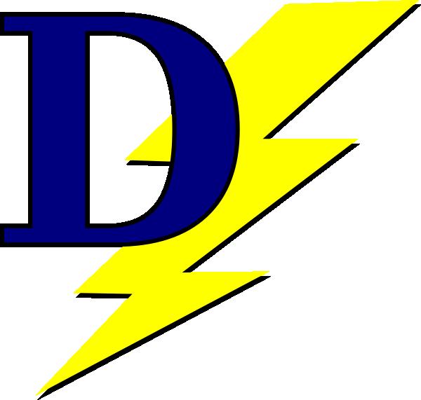 600x571 Lightning Bolt With D Clip Art