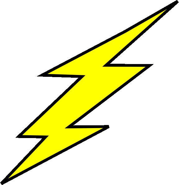 576x595 Straight Black Outline Flash Bolt Clip Art