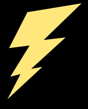 300x369 Yellow Lightning Bolt Clip Art