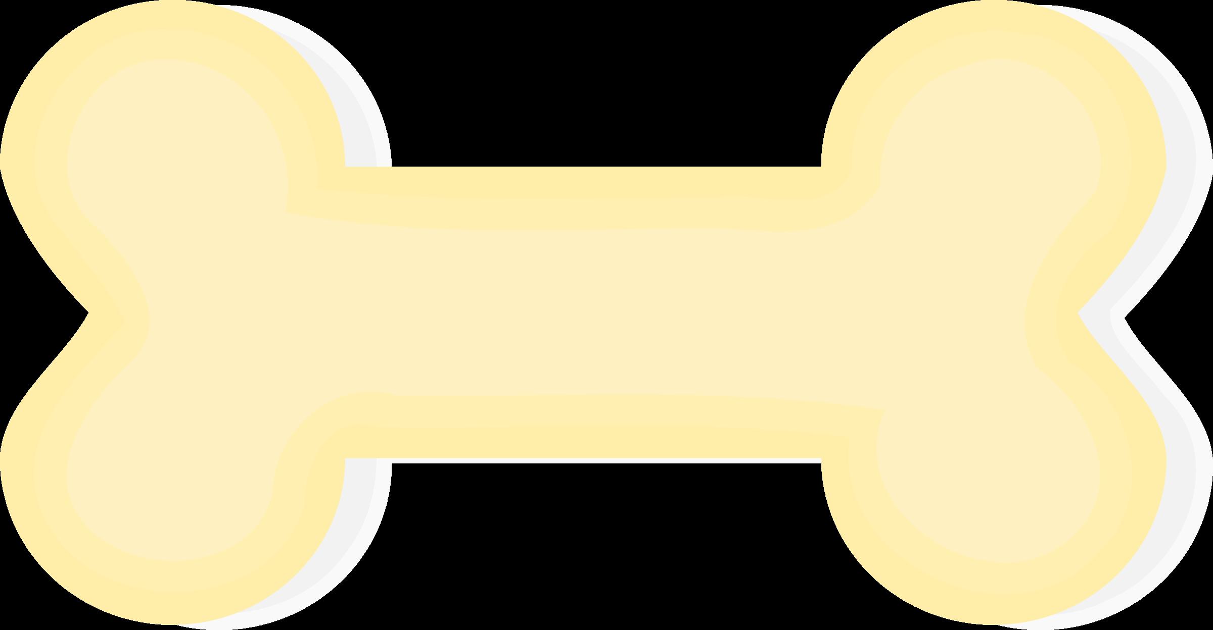 2400x1248 Clipart Dog Bone Image