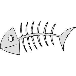 300x300 Fish Bone Clipart Free