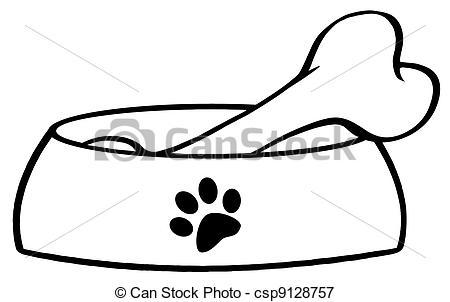 450x302 Bowl Dog Bone Clipart, Explore Pictures