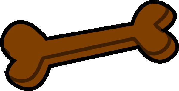 600x306 Dog Bone Brown Clip Art