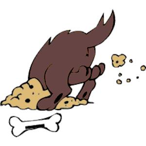 300x300 Dog Burying Bone Clipart, Cliparts Of Dog Burying Bone Free