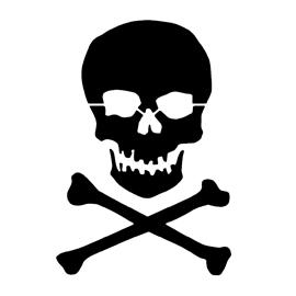 270x270 Skull And Crossbones Stencil Free Stencil Gallery