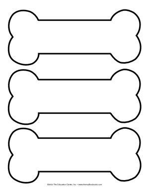 300x388 Dog Bone Template Printable