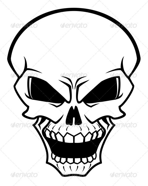 590x740 Danger Skull Vector Program And Tattoo Templates