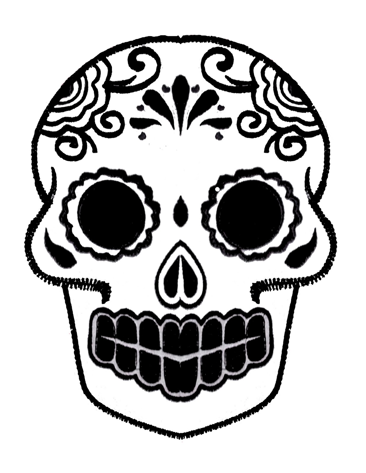 1236x1600 Day Of The Dead Mask Templates