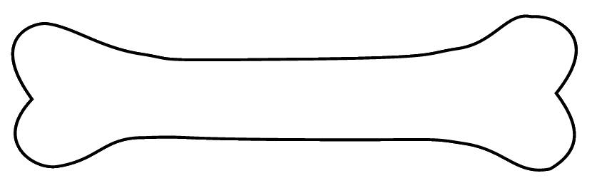 830x264 Long Clipart Dog Bone